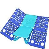 BoxLegend Shirt Folding Board t Shirts Clothes Folder Durable Plastic Laundry folders Folding Boards flipfold (Blue & Turquoise)