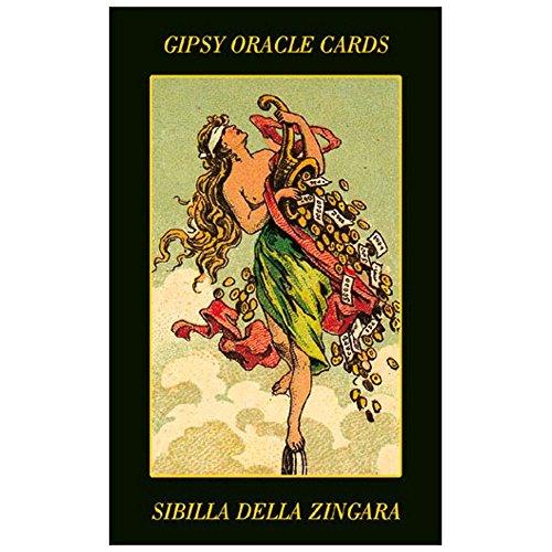 Baraja Gypsy Oracle Cartas de Adivinación, Mazo de 52 Cartas con Instrucciones Multilingües