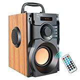 Portable Bluetooth Speaker Wireless Subwoofer Stereo Bass Speakers Outdoor Powerful Speaker Support Remote Control FM Radio for Home Party, Travel, Camping, Indoor