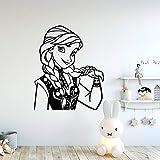 wZUN Princesa de Dibujos Animados Accesorios de decoración del hogar decoración Sala de Estar Dormitorio Mural Arte calcomanía 42X49cm