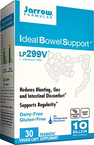 Jarrow Formulas Ideal Bowel Support, 10 Billion Organisms per Cap, Reduces Bloating Gas and Intestinal Discomfort, 30 Count (Cool Ship, pack of 3) 1