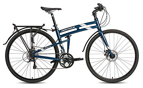 Montague Navigator Folding 700c Pavement Hybrid Bike Midnight Blue 19' New Model