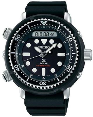 "Seiko Prospex""Arnie"" Re-Issue Sports Solar Diver's 200M Silicone Band Watch SNJ025P1"