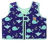 Swimbubs Gilet de Natation pour Enfants Maillot de Bain pour Enfants (1-2 Ans, Blue Whale)