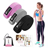 Long Resistance Bands Set, Pull Up Bands, Fabric Non Slip Full Body Workout Resistant Bands for Fitness, Physical Therapy, Home Gym(3 Pack)