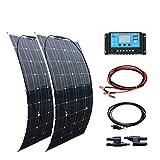 XINPUGUANG 200W 12v Système solaire kit 2pcs 100w Panneau Solaire flexible...
