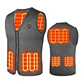 Heated Vest , USB Charging Electric Heated Jacket Washable for Women Men Outdoor Motorcycle Riding Hunting Camping