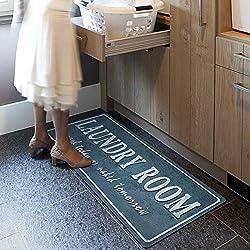 USTIDE Laundry Room Rug Mat Non-Slip Waterproof