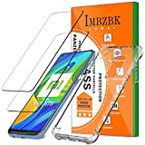 IMBZBK [2 Pack] Verre Trempé pour Xiaomi Redmi Note 9 Protection écran + Coque...
