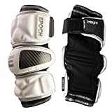 Epoch Integra Lacrosse Arm Pads for Attackmen and Middie with Dual Density Foam, Large, White