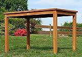 ASS Echt Teak Holztisch 120x70cm Gartenmöbel Gartentisch Garten Tisch Holz sehr robust Alpen - 4