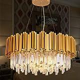 MEELIGHTING Gold Plated Luxury Modern Crystal Chandelier Lighting Contemporary Raindrop Chandeliers Pendant Ceiling Lights Fixture for Dining Room Living Room Hotel Bedroom W21.6'