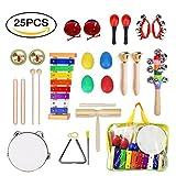 ULIFEME Instrument de Musique pour Enfant, 25 Pièces Instruments de...