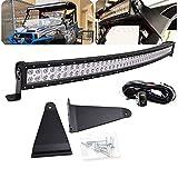 Light Bar Bracket w/Wiring kit - Dasen LED Full Size 52' 300W Curved LED Light Bar w/Upper...