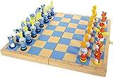 La prima scacchiera in legno