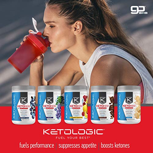 KetoLogic BHB Exogenous Ketones Powder with Caffeine (30 Servings) - Keto Pre-Workout, Boosts Ketosis, Energy & Focus - Support Keto Diet with Beta-Hydroxybutyrate Keto BHB Salts - Blueberry Acai 4