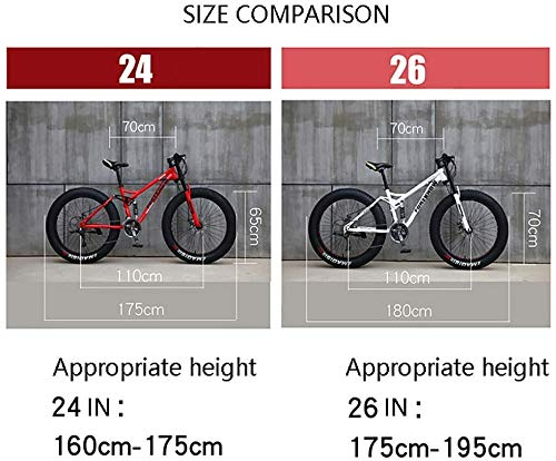 Product Image 5: GaoFan Bicycle MTB Top, Fat Wheel Motorbike/Fat Bike/Fat Tire Mountain Bike, Beach Cruiser Fat Tire Bike Snow Bike Fat Big Tyre Bicycle 21speed Fat Bikes for Adult,Blue,26IN