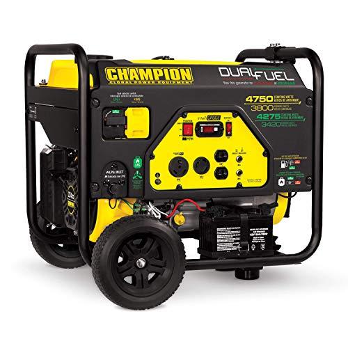 Champion Power Equipment 76533 4750/3800-Watt Dual Fuel RV Ready...