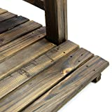 Nexos GH35013 Holzbrücke mit Geländer Teichbrücke Dunkelbraun Größe 150x67x55 cm Dekobrücke Holzsteg Gartenbrücke witterungsbeständig Gartendekoration Teichübergang, Braun - 4
