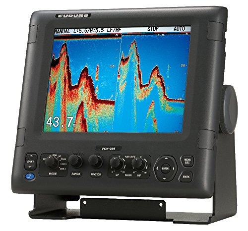 Furuno FCV295 Color LCD 1/2/3KW Transmitter 28-200Khz Operating Frequency Fish Finder, 10.4'