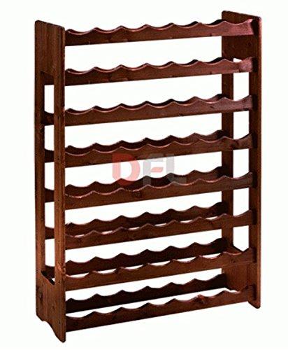 Bakali Home CANTINETTA 56 posti Porta Bottiglie in Legno Multistrato di Betulla, Dimensioni cm....