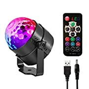 Sound Activated- turns the light on and it will automatically light on and the light change with the rhythm of music. it can increase or reduce the ratation speed by remote control . RGB 7 Mode with REMOTE and AUTO/FLASH/MUSIC MODE: 7 Colors ,Blue, g...