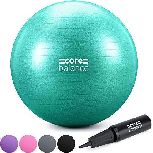 CORE BALANCE, berstsicherer Gymnastikball - für Fitness Yoga Schwangerschaft - 55cm 65cm 75cm 85cm - inkl. Luftpumpe und E-Book