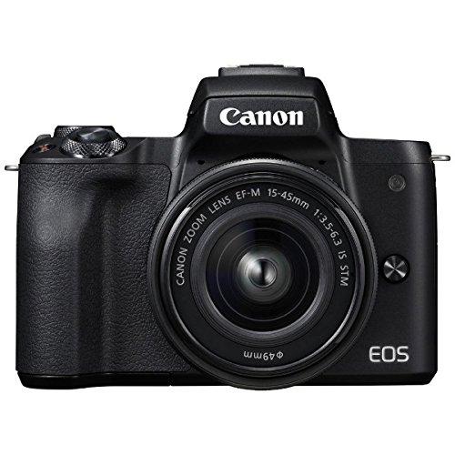キヤノン EOS Kiss M 【EF-M15-45 IS STM レンズキット】 (ブラック/ミラーレス一眼カメラ) EOSKISSMBK1545...