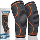 MODVEL 2 Pack Knee Compression Sleeve   Knee Brace for Men & Women   Knee Support for Running,...