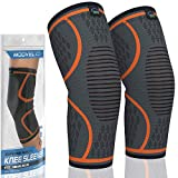 MODVEL 2 Pack Knee Compression Sleeve | Knee Brace for Men & Women | Knee Support for Running,...