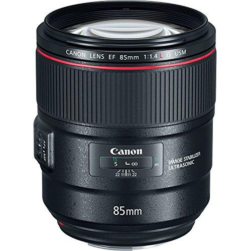 Canon EF 85mm F/1.4L IS USM - Teleobjetivo para cámara (Longitud Focal 85 cm, f/1.4, estabilizador de Imagen de 4 Pasos, Enfoque automático) Negro