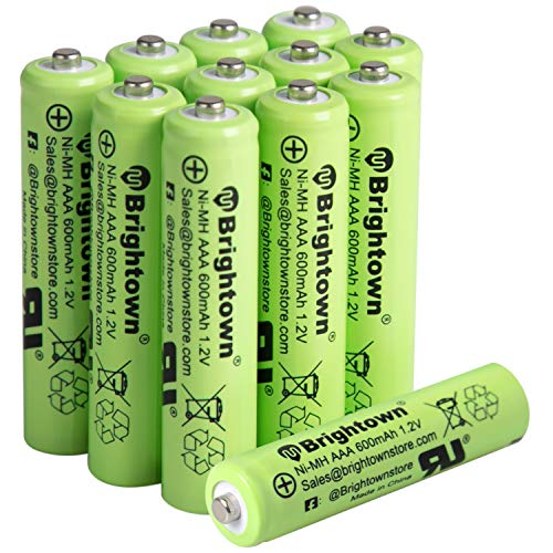 12 Pack Ni-Mh AAA 600mah 1.2v Pre-charged Rechargeable Battery for Solar Lights
