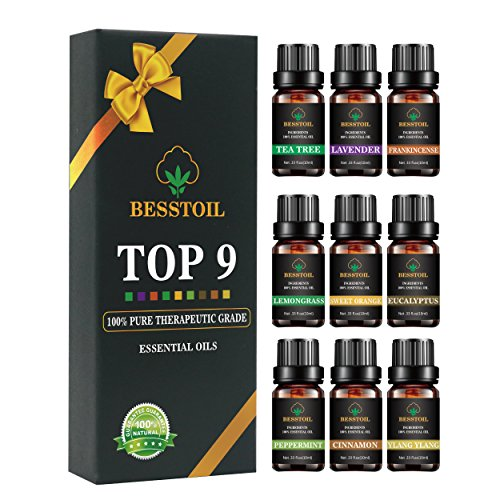 Juego de aceites esenciales de grado terapéutico TOP9 100%p