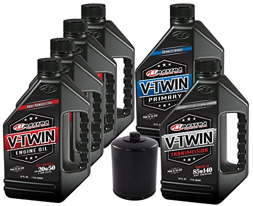 MaximaHiflofiltro VTTOCK14 Complete Engine Oil Change Kit for V-Twin Full Synthetic Harley Davidson Twin Cam, 6 Quart