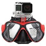 Telesin Masque de plongée avec support compatible avec GoPro Hero3, 3+ et...