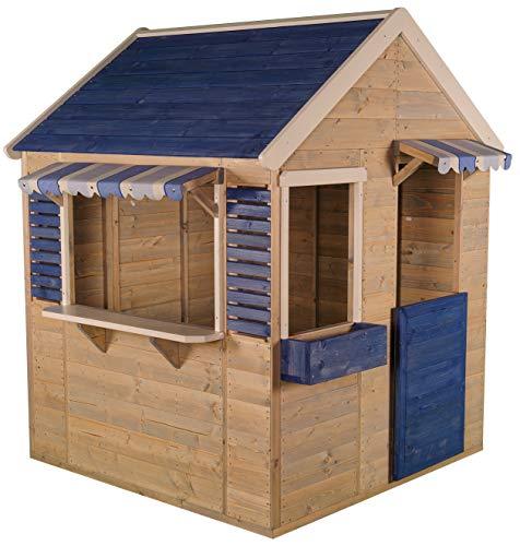 Wendi Toys M17 Maritime House   Kinder HolzSpielhaus   Blau Holz Garten Haus   Holzhäuser für draußen