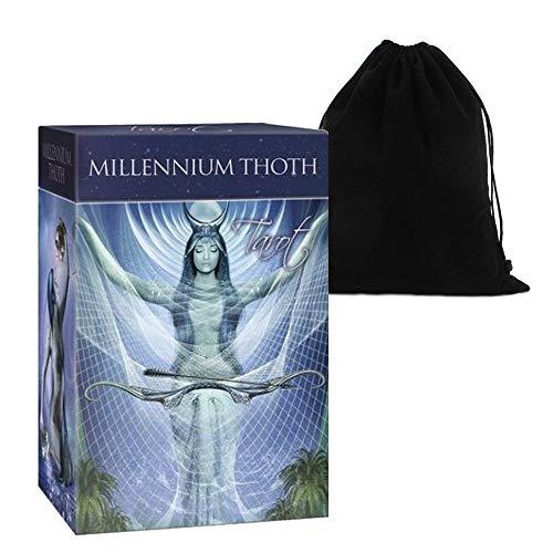 Shop4top Millennium Thoth Tarot Cards Deck and Bag