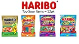 HARIBO Gummi Candy, Sour Variety Pack, 4.5 ounce bags (Pack of 12)