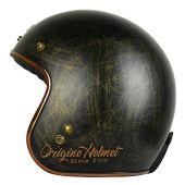 Origine - Primo Scacco - Casco de moto jet Cafè Racer XS Bronze Matt