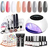 Poly Nail Gel Kit with 84W Led Lamp Gel...