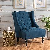 Christopher Knight Home Toddman High-Back Fabric Club Chair, Dark Blue