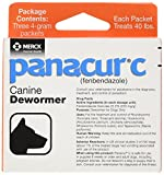 Merck Animal Health Panacur C Canine De-Wormer, Net Wt. 12 grams, Package Contents Three, 4 gram packets
