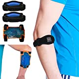 BodyMoves Tennis Elbow Brace (2pcs) plus hot and cold ice pack Support Gear for Sports Daily Use to Reduce Joint Pain and Treat Tendonitis Bursitis, Basketball Golfers elbow, gym