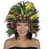 ZUCKER - Mardi Gras Costume Feather Headdress - Halloween Cosplay Costume Hair Accessories, Multicolor, One Size