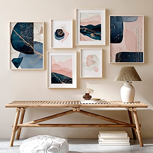 Ohbimba - Decorative Framed Sheets (No Frame) Wall Posters for Modern Living Room Decoration, Pink Pictures Room Bedroom Living Room - Feminine Style Pictures - A3 and A4 Size