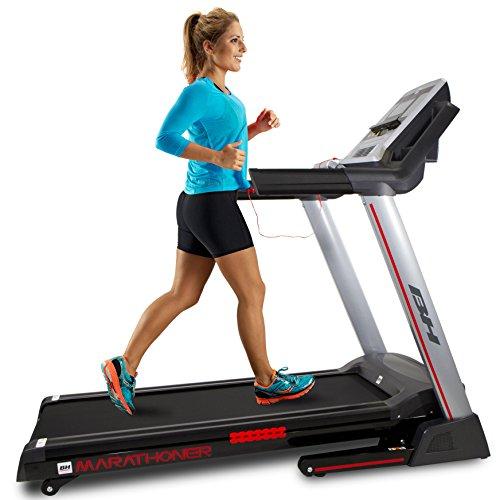 BH Fitness - Marathoner Cinta de correr, Adultos Unisex, Gris oscuro,...