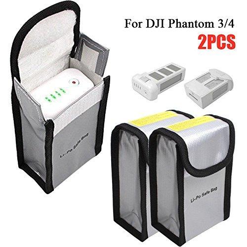 Borsa per batteria per ricarica e stoccaggio sicuri, LiPo Guard Sacchetto Batterie Protezione Borse...