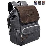 Diaper Bag Backpack,SUNPOW Large Multifunction Travel Baby Bag Gray