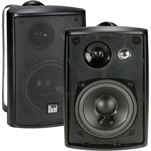 Dual Electronics LU43PB 3-Way High Performance Outdoor Indoor Speakers with Powerful Bass | Effortless Mounting Swivel Brackets | All Weather Resistance | Expansive Stereo Sound Coverage | Sold in Pairs