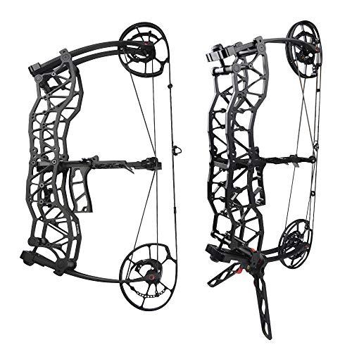MILAEM Bogenschießen Compoundbogen Katapult Stahlkugel Bogenfischen Jagdschießen 40-60lbs Einstellbar Erwachsener Bogen Linke und rechte Hand